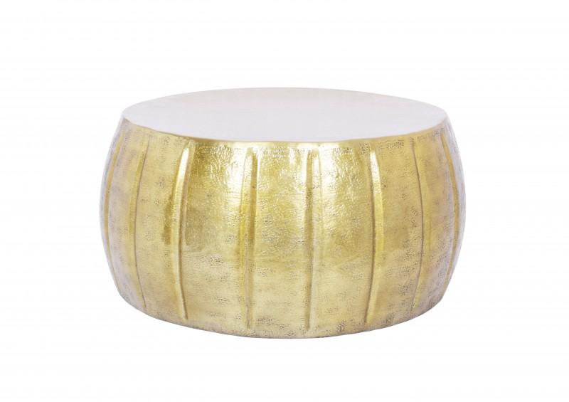 Konferenční stolek Agadir 65cm - hliník, zlatý / 40217