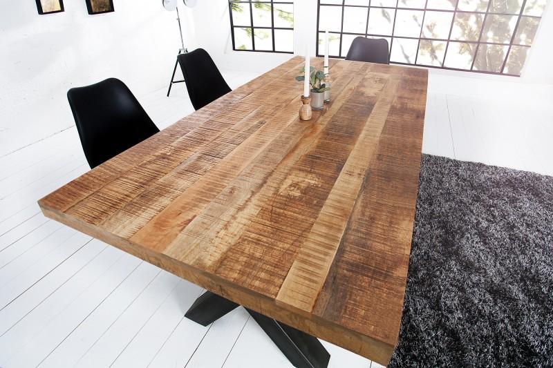 Jídelní stůl Hobart X 160cm x 90cm - přírodní mango / 40012