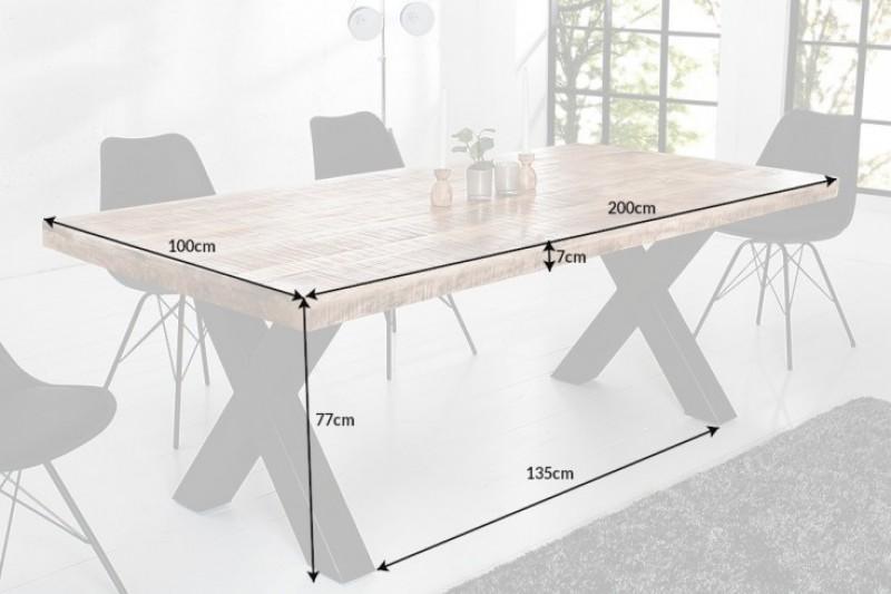 Jídelní stůl Wales 200cm x 100cm - přírodní mango / 40013