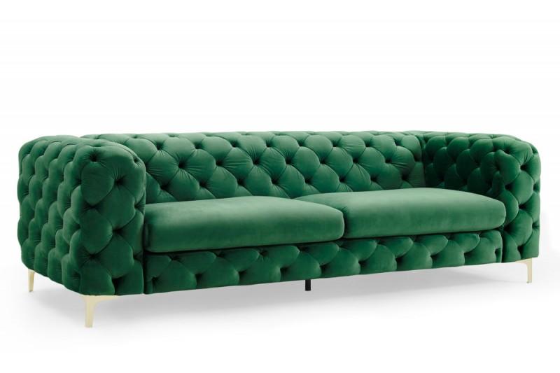 Pohovka Caravaggio 240cm - smaragdová, samet / 39312