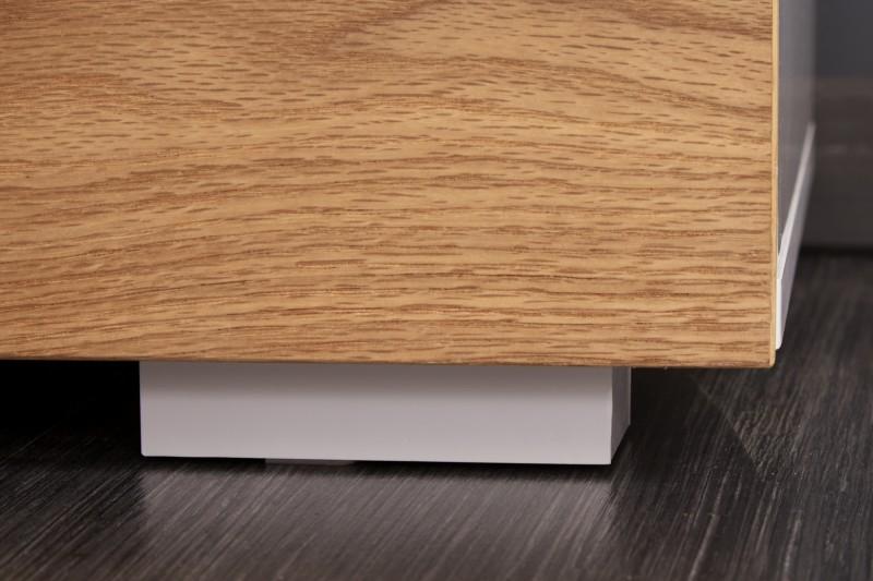 Skříň Mateos 100cm x 115cm - bílá, dub / 40067