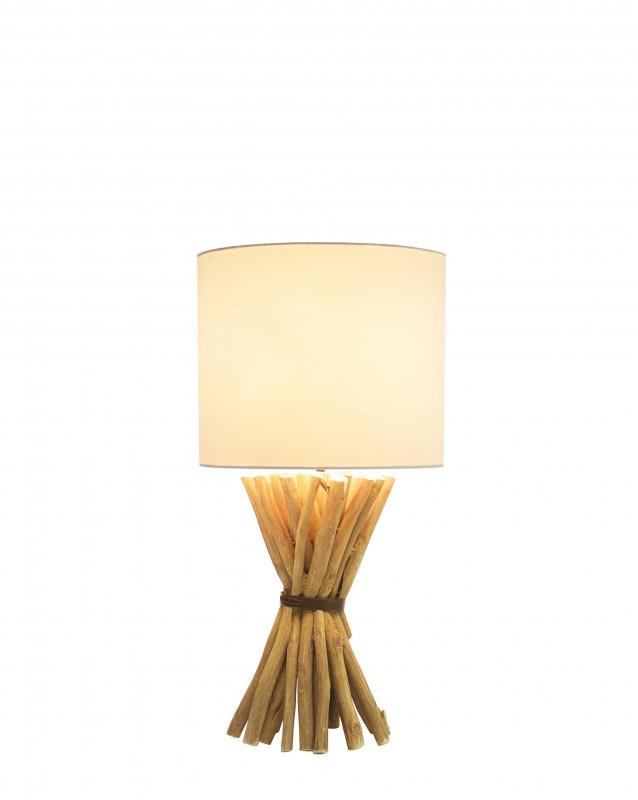 Stolní lampa Euphoria 54cm longan dřevo / 40506