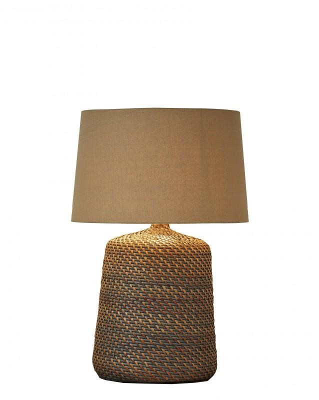 Stolní lampa Corinn 96cm ratanově šedá béžová / 40508
