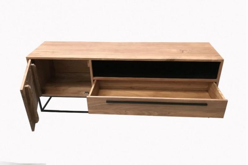 Televizní stolek Murcia 165cm x 40cm - přírodní akácie / 40296
