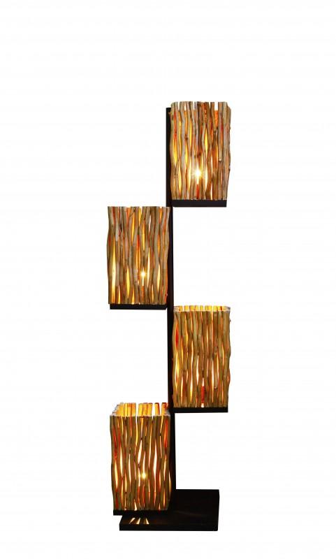 Stojací lampa Tocaima 154cm - longanové dřevo / 40504