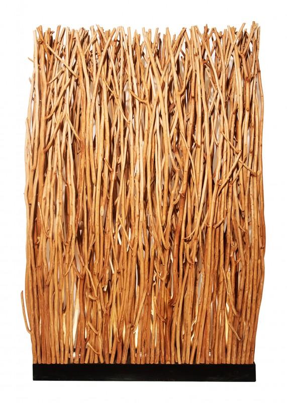 Stojací lampa Dragon Eye 180cm - přírodní longan / 40505
