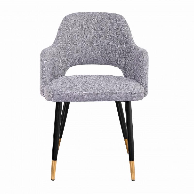 Jídelní židle Buckie - světle šedá / 40570