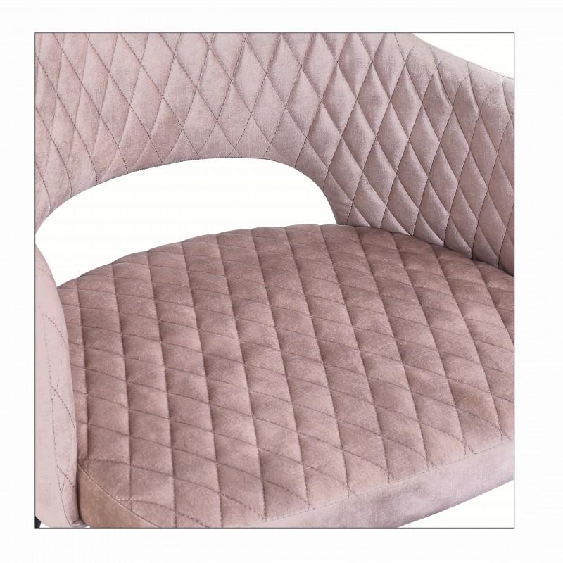 Jídelní židle Buckie - starorůžová, samet / 40572