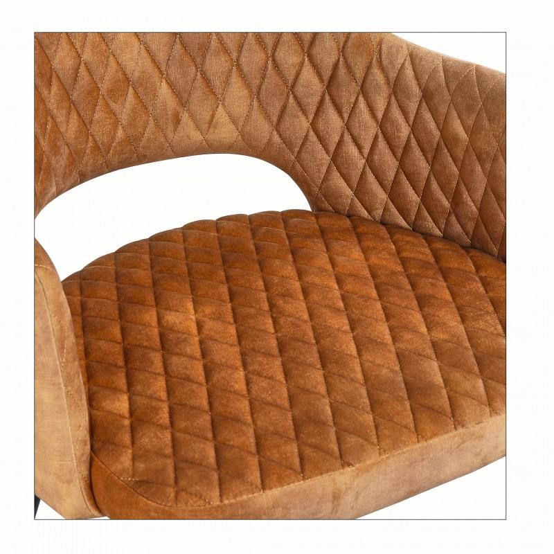 Pařížská sametová židle hořčice žlutá / 40573