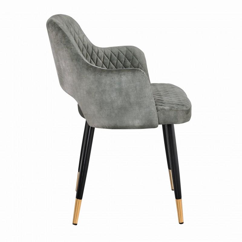 Jídelní židle Buckie - taupe šedá, samet / 40574