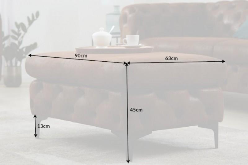 Moderní barokní stolička z mikrovlákna starožitná / 40466