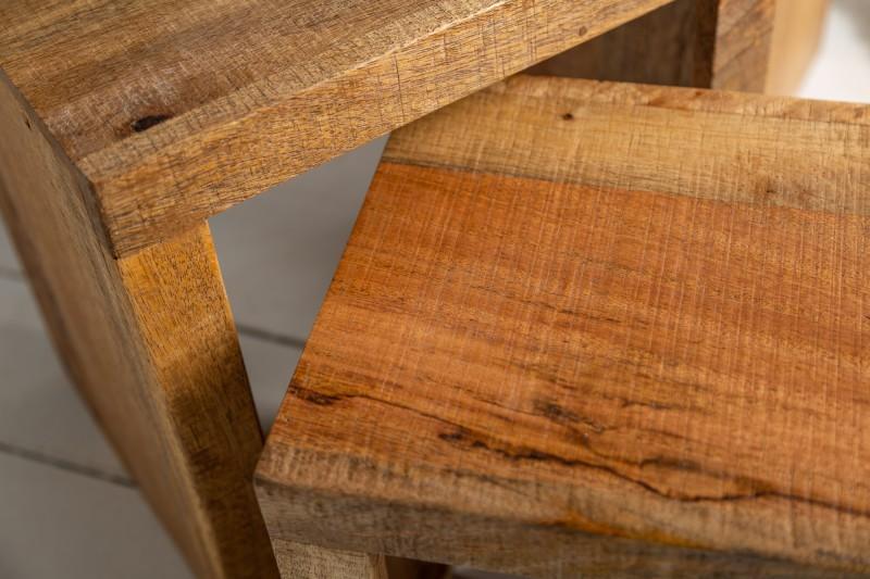 Konferenění stolek Bootle 3ks - přírodní  mango / 40594