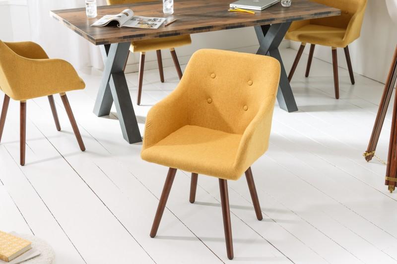 Židle Scandinavia Meisterstck hořčice žlutá / 40124