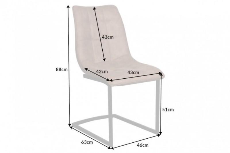 Jídelní židle Emma - taupe hnědá / 39856