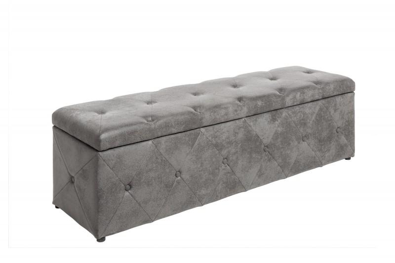 Luxusní lavice Paradise 140cm x 40cm - antická šedá / 40137