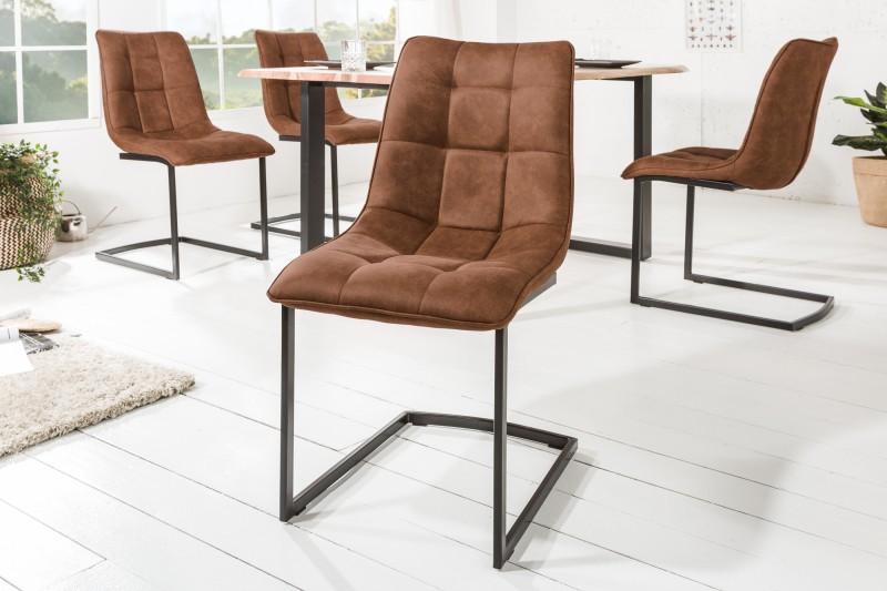 Jídelní židle Emma - hnědá / 39855
