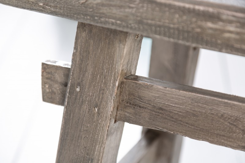 Hemingway stolička 45cm mahagonová šedá / 40313