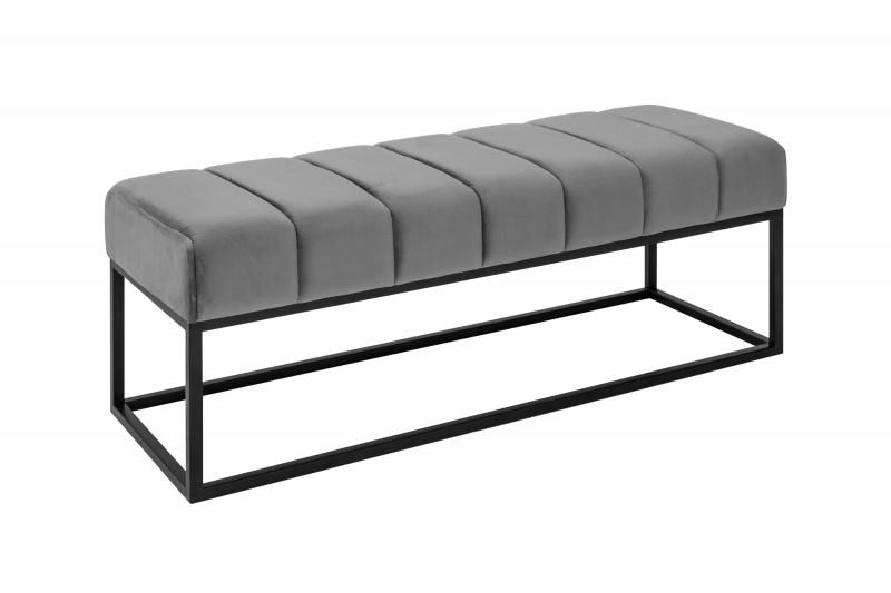 Lavice Sagitta 110cm x 40cm - šedá, samet / 40314