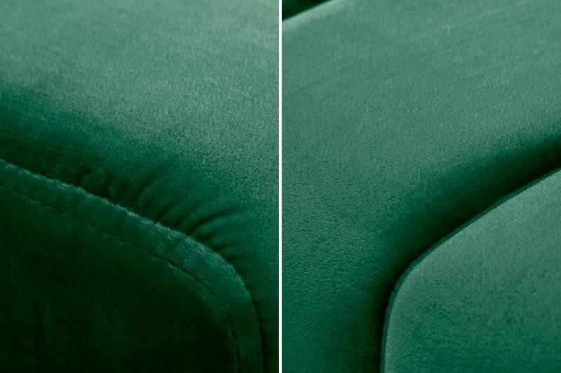 Lavice Sagitta 110cm x 40cm - smaragdově-zelená, samet / 40316