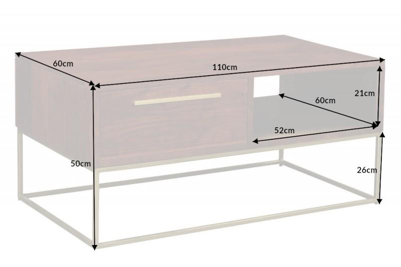 Konferenční stolek Whitfield 110cm x 60cm - přírodní akát / 40293