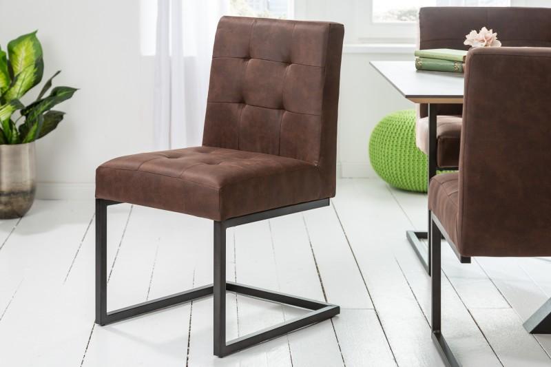 Jídelní židle Edward - vintage hnědá / 40493
