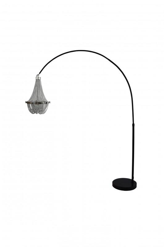 Stojací lampa Chains 170-210cm - stříbrná / 40687