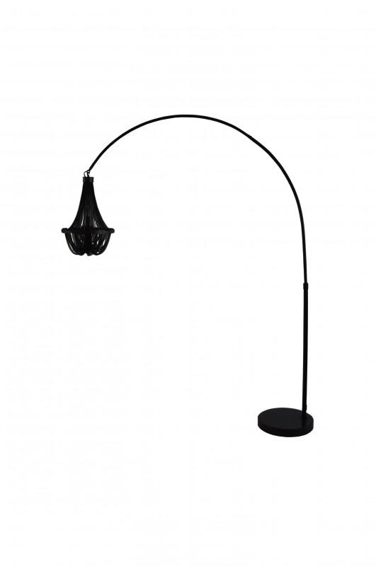 Stojací lampa Chains 170-210cm - černá / 40688