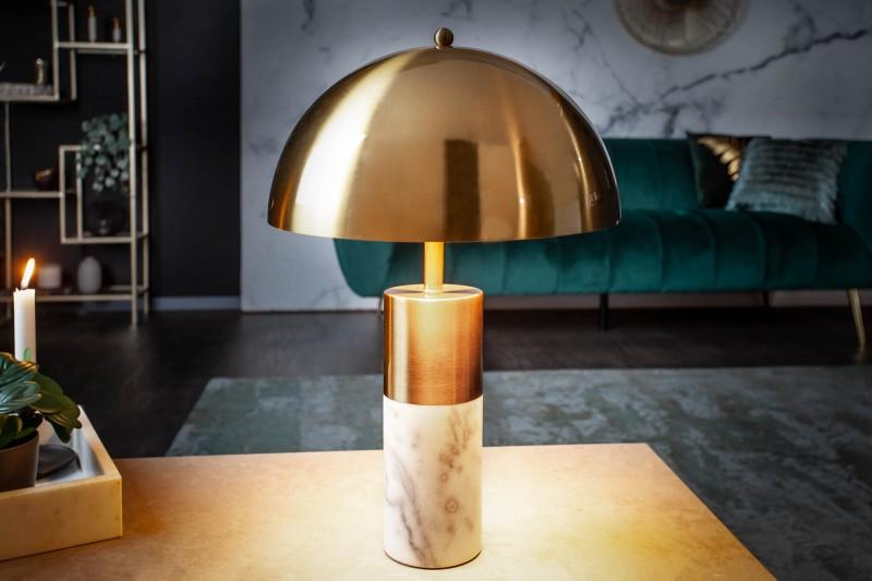 Stolní lampa Burlesque - zlatá, mramor / 40778