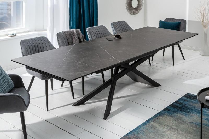 Jídelní stůl Ceramic 180-220-260cm x 90cm  - grafit / 40645