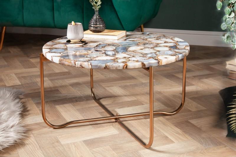 Konferenční stolek Agate Desk 62cm - modrý achát / 40364