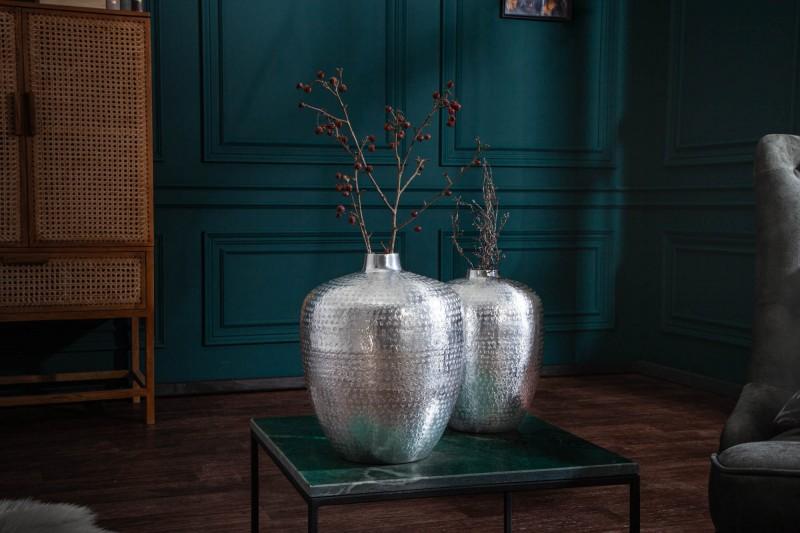 Dekorativní váza Sidi 2ks - stříbrná / 40102