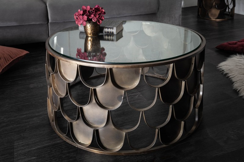 Konferenční stolek Abstraktní rybí váhy design 60cm / 40110