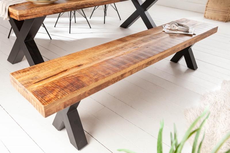 Lavice Hobart 200cm x 40cm - přírodní mango  / 40159