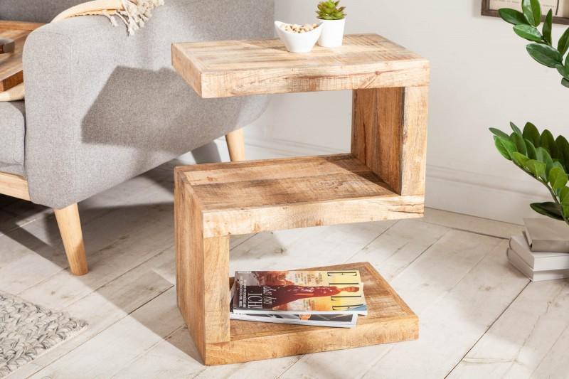 """Konferenční stolek """"S"""" 60 cm - přírodní mango / 41001"""