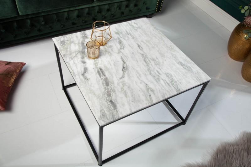 Konferenční stolek Elements 50cm x 50cm - mramor, bílý / 40112