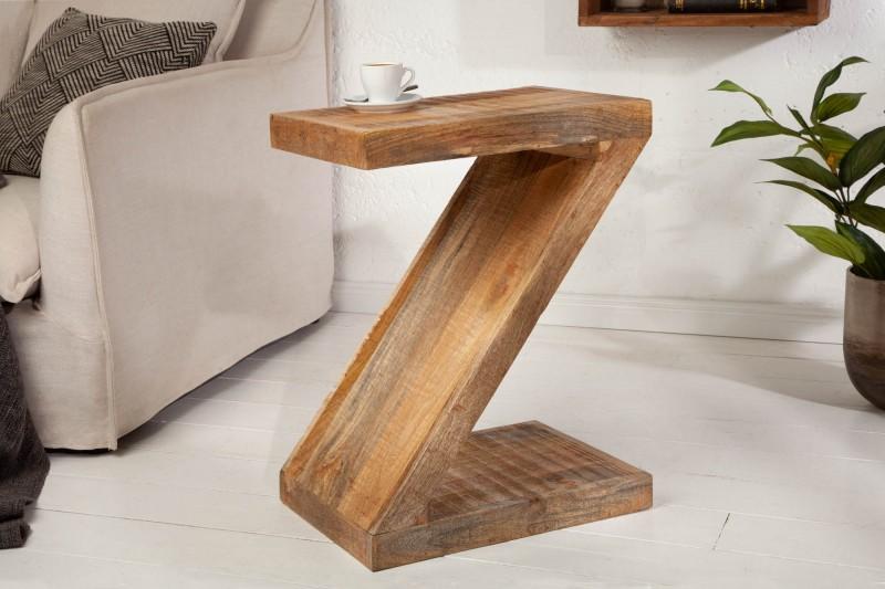 """Konferenční stolek """"Z"""" 45cm x 60cm - mango přírodní / 41002"""