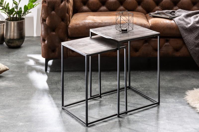 Konferenční stolek Ferate 2ks - stříbrná, černá / 40387