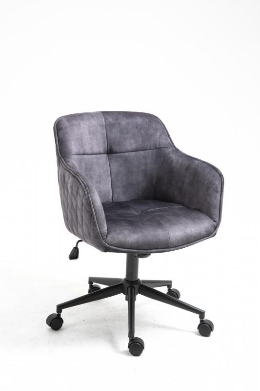 Kancelářská židle Torup - tmavě šedá, samet / 40865