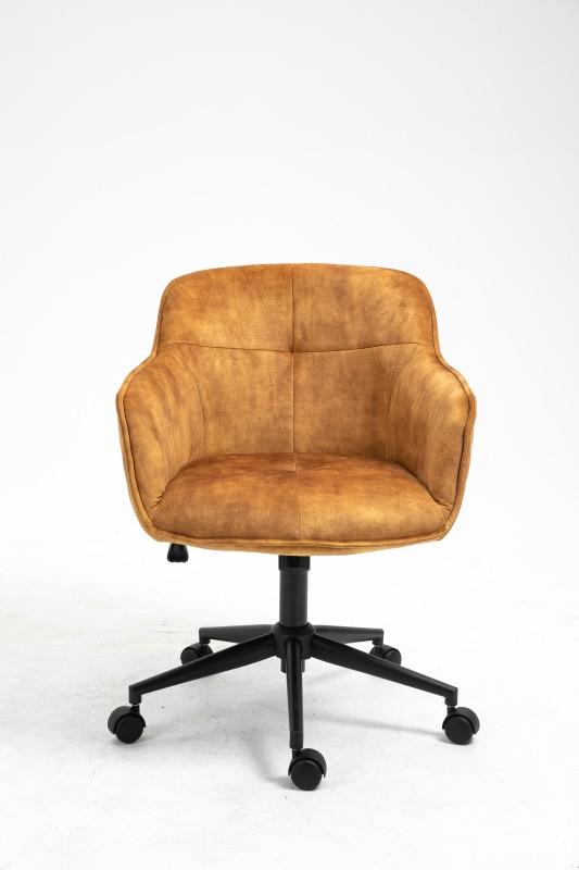 Kancelářská židle Torup - žlutá, samet / 40866