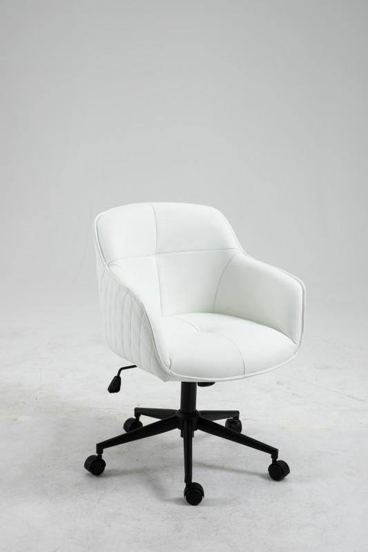 Kancelářská židle Torup - bílá, syntetická kůže / 40868
