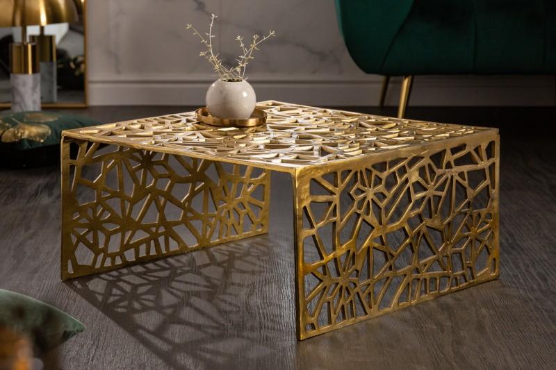 Konferenční stolek abstraktní 60cm zlatý / 40900