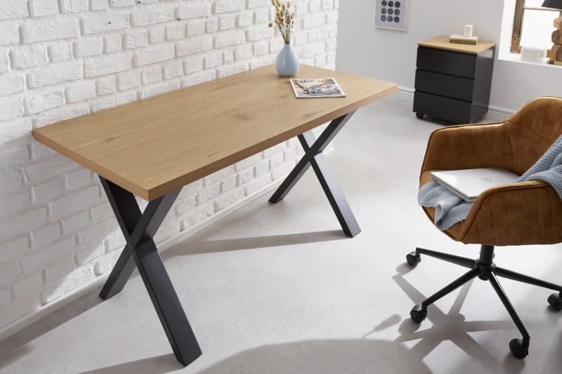 Loftový stůl 140 cm dubový vzhled / 40872
