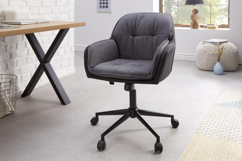 Kancelářská židle Caren - šedá antracit / 40864