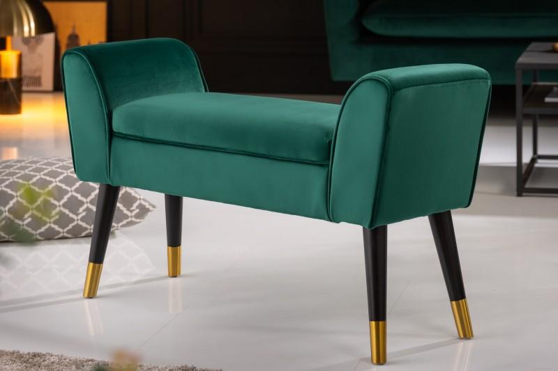 Designová lavice Scarlett 90cm x 30cm - smaragdově zelená / 40406