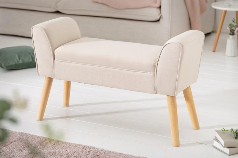 Designová lavice Scarlett 90cm x 30cm - béžová / 40407