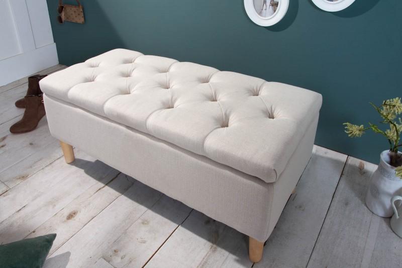 Designová lavice Essex 100cm x 40cm - béžová / 40408