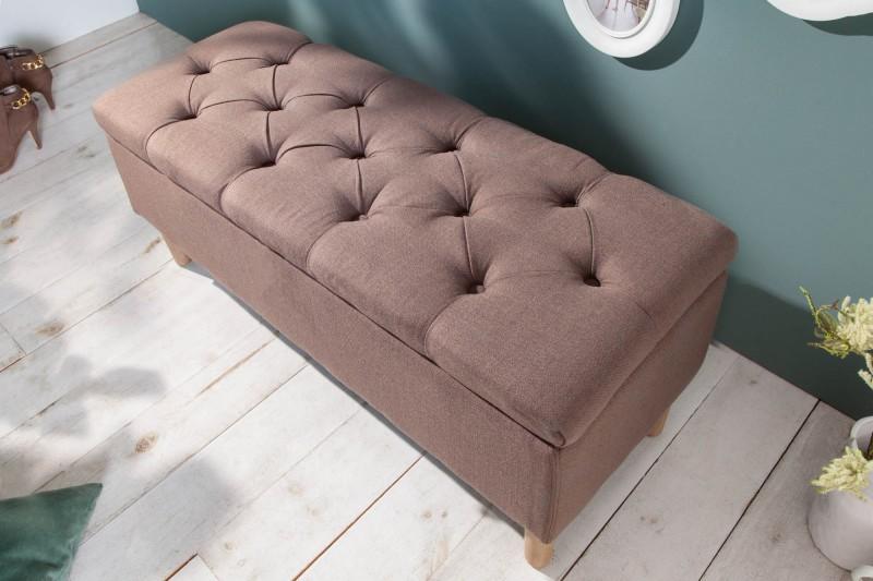 Designová lavice Essex 100cm x 40cm - káva / 40409