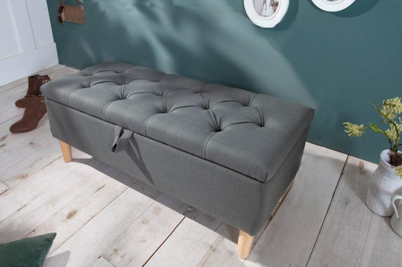 Designová lavice Essex 100cm x 40cm - šedá / 40410