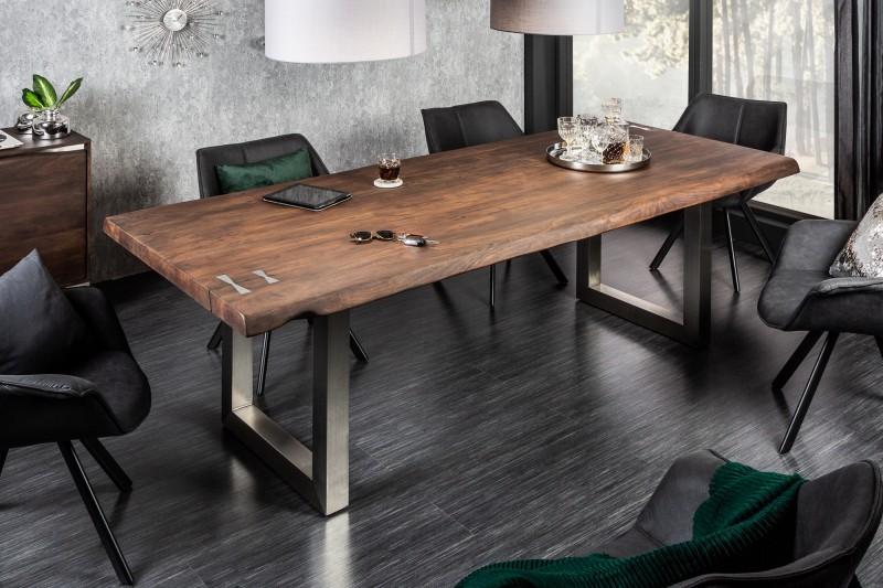 Jídelní stůl Accra Artwork 220cm x 100cm - akát tmavý / 41322