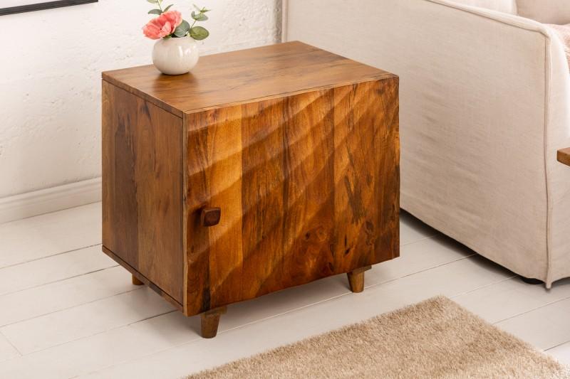 Noční stolek Scorpion 50cm hnědé mango / 41193